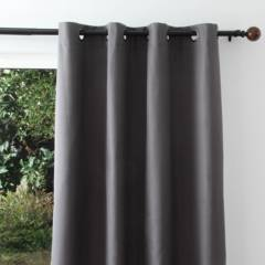 JUST HOME COLLECTION - Cortina black-out 140x220cm Texturada grafito