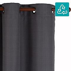 Cortina Black Out texturada 200X220 cm grafito