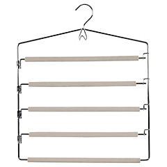 Colgador para ropa de 4 barras metal Beige