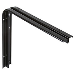 Soporte para repisa metal 20x25 cm Negro