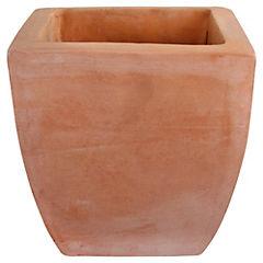 Macetero cuadrado de arcilla 62x46 cm Terracota