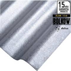 BOLKOW - 0.4 x 851 x 2500 mm. Plancha Acanalada Onda zinc gris Recubrimiento AZM150