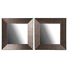 Set de espejos cuadrados 23x23 cm 2 unidades dorado