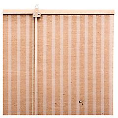 Cortina enrollable yute 150x250 cm café claro