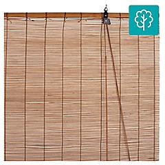Cortina enrollable bambú 120x250 cm café