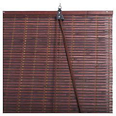 Cortina enrollable bambú 120x250 cm chocolate
