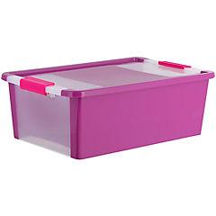 Caja organizadora 19 litros 55x35x19 cm fucsia