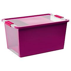 Caja organizadora 40 litros 55x35x28 cm fucsia