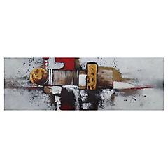 Óleo abstracto ciudad 120x40 cm