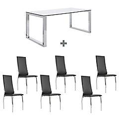 Juego de comedor Katrina 6 sillas respaldo alto
