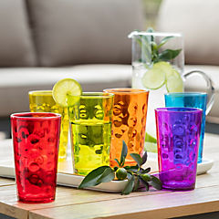 Set de vasos vidrio 340 cc 6 unidades