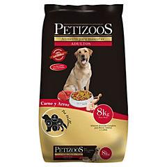 Alimento seco para perro adulto 8 kg carne y arroz