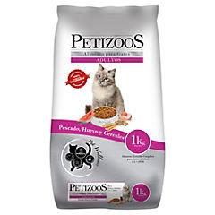 Alimento seco para gato adulto 1 kg pescado y cereales
