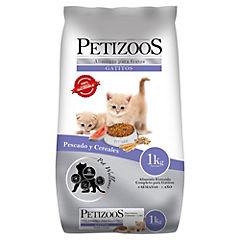 Alimento seco para gatito 1 kg pescado y cereales