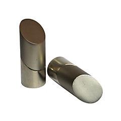 Set de terminales para barra de cortina 19 mm 2 unidades Satinado