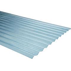 0,7mm x 0,85x2,50 m plancha traslucida Onda zinc natural