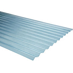 0,7mm x 0,85x3,00 m plancha traslucida Onda zinc natural