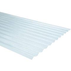 0,5mm x 0,85x2,00 m plancha traslucida Onda zinc natural
