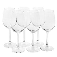 Set de copas para vino vidrio 547 ml 6 unidades transparente