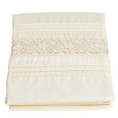 Cortina de baño Sofía textil 180x180 cm crudo