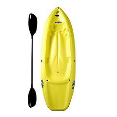 Bote kayak plástico amarillo