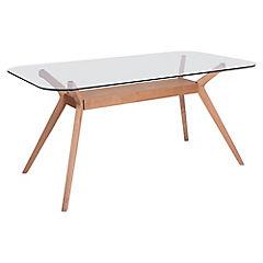 Mesa de comedor 75x85x160 cm roble
