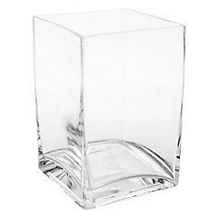 Florero 15x10x10 cm vidrio Transparente