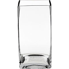 Florero 20x10x10 cm vidrio Transparente