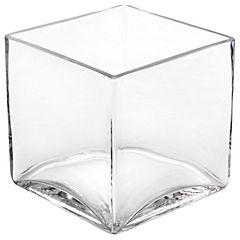 Florero 12x12x12 cm vidrio transparente