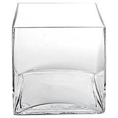 Florero 15x15x15 cm vidrio Transparente