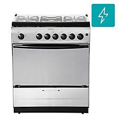 Cocina a gas 5 quemadores 84 litros silver