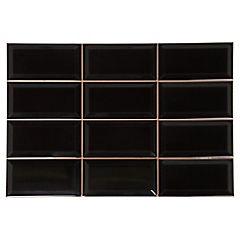 Cerámica 31x45 cm 1,42 m2 Negro