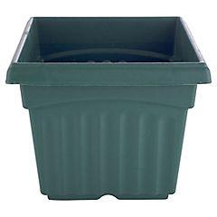Macetero plástico 16.5 cm verde