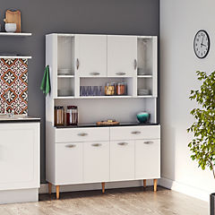 Kit mueble cocina 121x174x36 cm Blanco