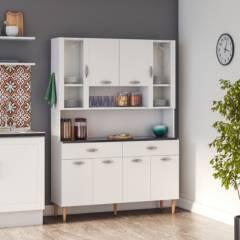 PARANA - Kit mueble cocina 121x174x36 cm Blanco