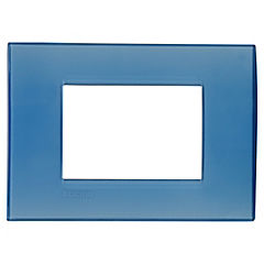 Placa rectangular 3 módulos Azul