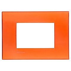 Placa rectangular 3 módulos Naranjo
