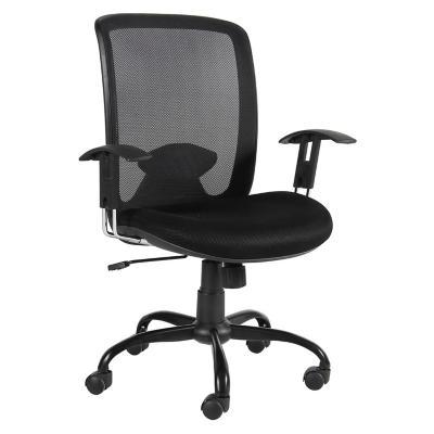 Silla para pc 63x61x93 101 cm negro homy 2657724 for Sillas de escritorio sodimac