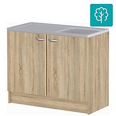 Mueble base para lavaplatos 100x82x47 cm MDF
