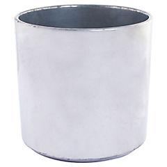 Macetero de cerámica 16 cm Plateado