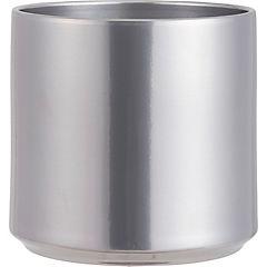 Macetero de cerámica 21 cm Plateado