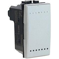 Interruptor conmutador (9/24) 16 A Gris
