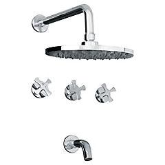 Combinación para tina y ducha Plateado