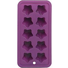 Cubetera silicona 10 hielos morado