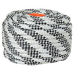 Nylon trenzado 10mm x 20mts blanco