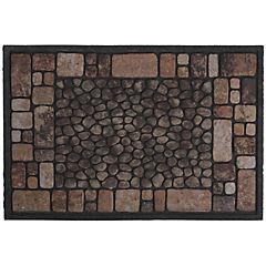 Limpiapiés Piedras café 40x60 cm