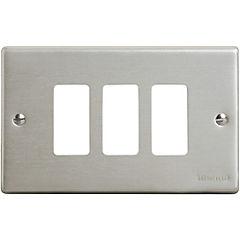 Placa 3 módulos Aluminio