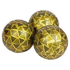 Set de esferas decorativas vidrio 3 unidades
