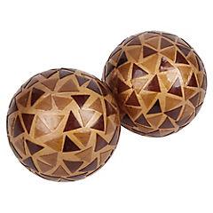 Set de esferas decorativas vidrio 2 unidades