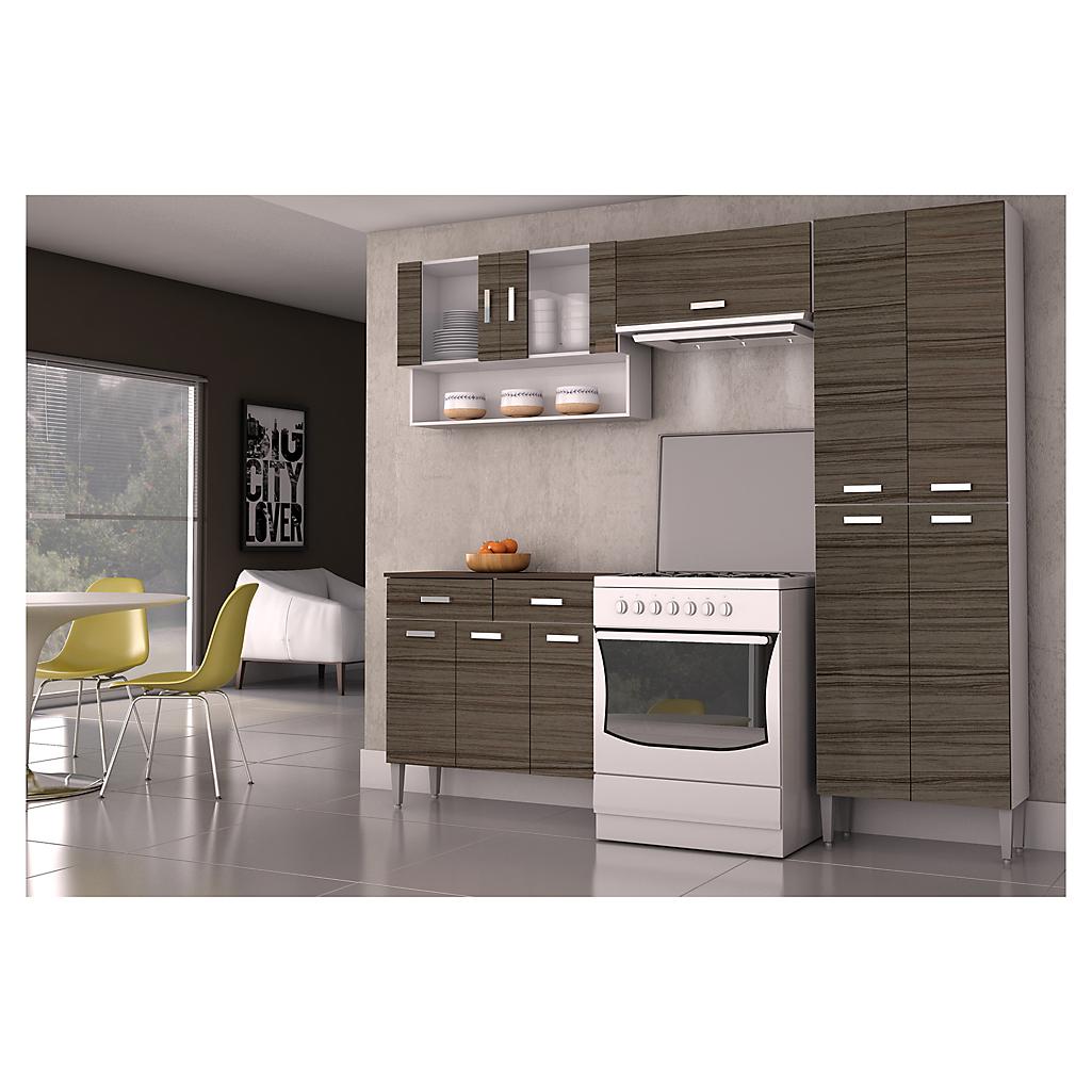 Kit mueble cocina 220x201x36 cm Parana - Sodimac.com